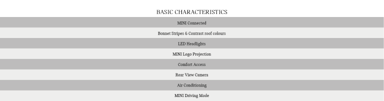 MINI 3 Door Features