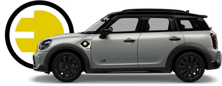 MINI PHEV – Countryman Cooper SE – silver and black