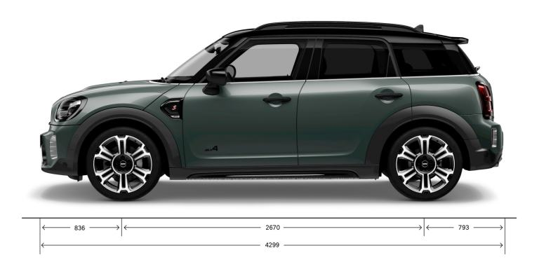 MINI Countryman – side view – dimensions