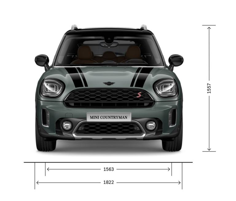 MINI Countryman – front view – dimensions